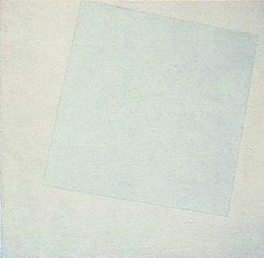 Carr� blanc sur fond blanc de Malevitch